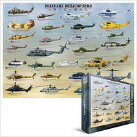 EuroGraphics Military Helicopters Collage (1000pc) Jigsaw Puzzle 600-1000 Piece #60088