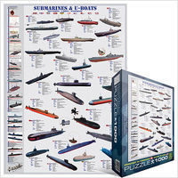 EuroGraphics Submarines & U-Boats Collage (1000pc) Jigsaw Puzzle 600-1000 Piece #60132