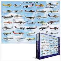 EuroGraphics Light (Private) Aircraft Collage (1000pc) Jigsaw Puzzle 600-1000 Piece #60238