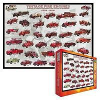 EuroGraphics Vintage Fire Engines Collage (1000pc) Jigsaw Puzzle 600-1000 Piece #60239
