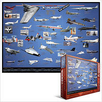 EuroGraphics American X-Planes Collage (1000pc) Jigsaw Puzzle 600-1000 Piece #60248