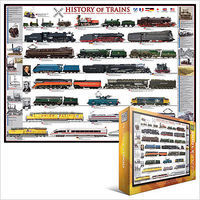 EuroGraphics History of Trains Collage (1000pc) Jigsaw Puzzle 600-1000 Piece #60251