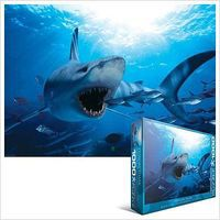EuroGraphics Hungry Shark (1000pc) Jigsaw Puzzle 600 1000 Piece #60299
