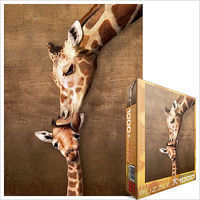 EuroGraphics Mother Giraffe Kissing Little Giraffe (1000pc) Jigsaw Puzzle 600-1000 Piece #60301