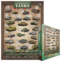 EuroGraphics History of Tanks (1000pc) Jigsaw Puzzle 600-1000 Piece #60381