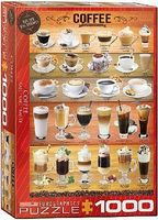 EuroGraphics Coffee Variety Collage (1000pc) Jigsaw Puzzle 600 1000 Piece #60589