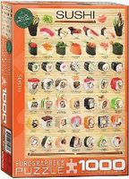 EuroGraphics Sushi Cuisine Collage (1000pc) Jigsaw Puzzle 600 1000 Piece #60597