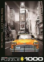 EuroGraphics New York City Yellow Cab in Time Square (1000pc) Jigsaw Puzzle 600-1000 Piece #60657