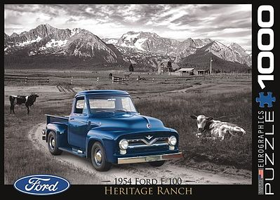Eurographics Puzzles 1954 Ford F100 Heritage Ranch (1000pc) -- Jigsaw Puzzle 600-1000 Piece -- #60668