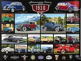 EuroGraphics American Cars 1930s Collage (1000pc) Jigsaw Puzzle 600-1000 Piece #60674