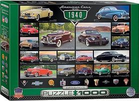 EuroGraphics American Cars 1940s Collage (1000pc) Jigsaw Puzzle 600-1000 Piece #60675