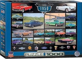 EuroGraphics American Cars 1950s Collage (1000pc) Jigsaw Puzzle 600-1000 Piece #60676