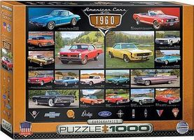 EuroGraphics American Cars 1960s Collage (1000pc) Jigsaw Puzzle 600-1000 Piece #60677