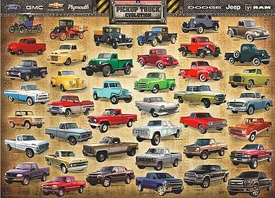 Eurographics Puzzles American Pick-Up Truck Evolution (1000pc) -- Jigsaw Puzzle 600-1000 Piece -- #60681