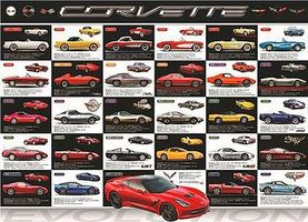 EuroGraphics Corvette Evolution (1000pc) Jigsaw Puzzle 600-1000 Piece #60683