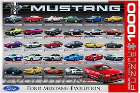 EuroGraphics Ford Mustang Revolution 50th Anniversary Collage (1000pc) Jigsaw Puzzle 600-1000 Piece #60684