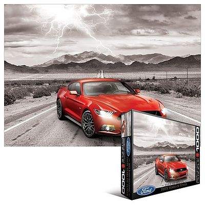 Eurographics Puzzles 2015 Ford Mustang Classic Car (1000pc) -- Jigsaw Puzzle 600-1000 Piece -- #60702