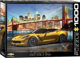 EuroGraphics Out for a Spin- 2015 Corvette Z06 (1000pc) Jigsaw Puzzle 600-1000 Piece #60735