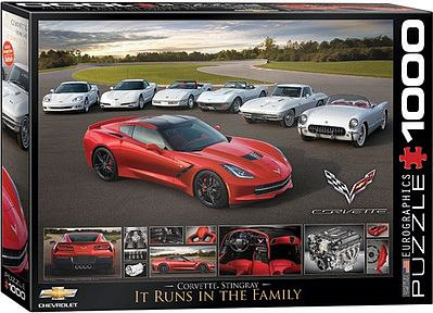 Eurographics Puzzles Runs in the Family- 2014 Corvette Stingray (1000pc) -- Jigsaw Puzzle 600-1000 Piece -- #60736
