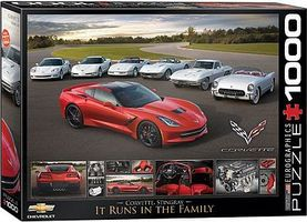 EuroGraphics Runs in the Family- 2014 Corvette Stingray (1000pc) Jigsaw Puzzle 600-1000 Piece #60736