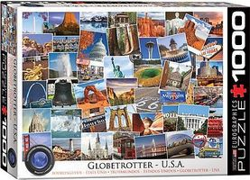 EuroGraphics Globetrotter USA Historic Places Collage (1000pc) Jigsaw Puzzle 600-1000 Piece #60750