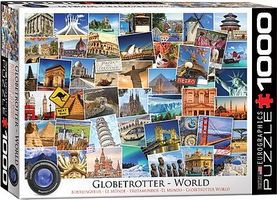 EuroGraphics Globetrotter World Historic Places Collage (1000pc) Jigsaw Puzzle 600-1000 Piece #60751