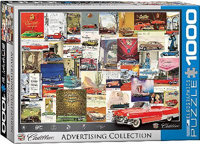 Eurographics Puzzles Cadillac Advertising Collection Collage (1000pc) -- Jigsaw Puzzle 600-1000 Piece -- #60757