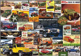 EuroGraphics Advertising Vintage Jeep Ads Collage (1000pc) Jigsaw Puzzle 600-1000 Piece #60758