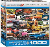 EuroGraphics Advertising Vintage Dodge Car Ads Collage (1000pc) Jigsaw Puzzle 600-1000 Piece #60760