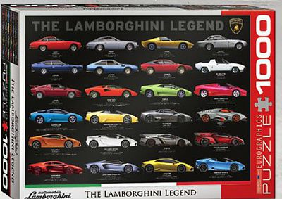 Eurographics Puzzles Lamborghini Legend Collage Puzzle (1000pc) -- Jigsaw Puzzle 600-1000 Piece -- #60822