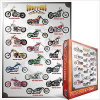 EuroGraphics Chopper Motorcycles Collage (1000pc) Jigsaw Puzzle 600-1000 Piece #61021
