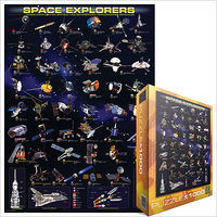 EuroGraphics Space Explorers (Spacecraft) Collage (1000pc) Jigsaw Puzzle 600-1000 Piece #62001