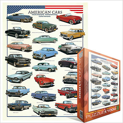 Eurographics Puzzles American Classic Cars Collage (1000pc) -- Jigsaw Puzzle 600-1000 Piece -- #63870