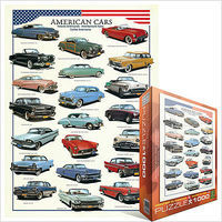 EuroGraphics American Classic Cars Collage (1000pc) Jigsaw Puzzle 600-1000 Piece #63870