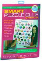 EuroGraphics Smart Puzzle Glue Adhesive Sheets (8) Jigsaw Puzzle Glue Mat Accessory #90101