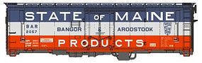 Eastern-Seaboard N ACF 40 Boxcar B&A 2082 N Scale Model Train Freight Car #226202