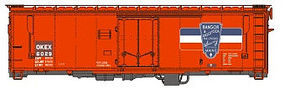 Eastern-Seaboard N ACF 40 Boxcar OKEX 6029 N Scale Model Train Freight Car #226402