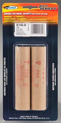 Estes E16-0 Model Rocket Booster Engines (2) 29mm Pro-Series II Rocket Motor #1695