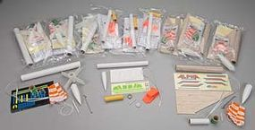 Estes Alpha/Viking and Generic Rocket Kits (12) Model Rocket Bulk Pack #1753