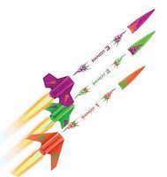 Estes 3 Bandits E2X Mini Model Rocket Kit Easy To Assemble #2435