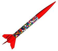 Estes Flying Colors ARF Model Rocket Kit Almost Ready To Fly Model Rocket #2486