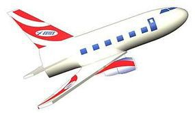 Estes Jetliner Mini Model Rocket Kit Skill Level 1 #3230