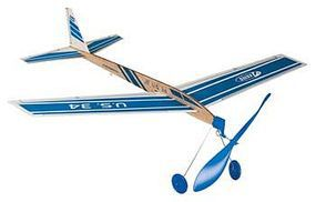 Estes Super Stratosphere Rubber Band Balsa Glider Rubber Powered Airplane #3434