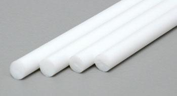 Evergreen Styrene Round Rod 1/8 .125 (4) Model Railroad Scratch Building Supply #214