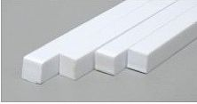 Evergreen Plastic Styrene Strips .080 x .438 x 24 (7) Model Railroad Scratch Building Supply #372