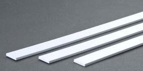 Evergreen Opaque White Styrene Strips .125 Thick, 24 Long .750 Wide pkg(3)