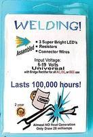 Evans Welding LEDs 3mm Universal 9-19V AC, DC, DCC Model Railroad Electrical Accessorry #u3w