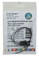 Evans Flashing Pico Chip LED Green w/8'' 20.3cm Wire Leads 7-19V AC or DC pkg(5)