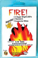 Evans Universal AC/DC/DCC LED Pico LED Fire Kit 3-Pack