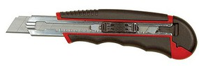 Excel Retractable Snap Off #7 Blade Utility Knife w/Metal-Frame Rubber Handle